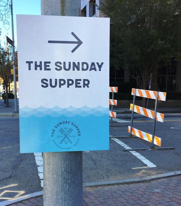 sundaysuppernc-streetsign