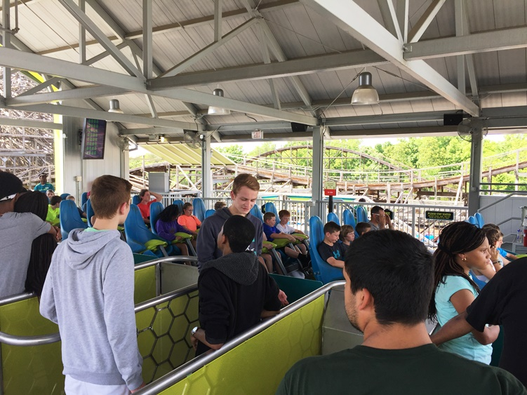 Loading area at Fury 325 roller coaster at Carowinds Park in Charlotte, NC - IncredibleNC